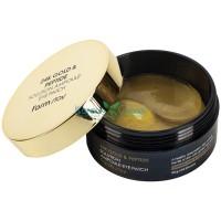 Гидрогелевые патчи для глаз с 24-х каратным золотом и пептидами 24K Gold & Peptide Solution Ampoule Eye Patch FarmStay, 60 шт