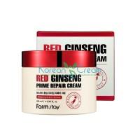 Восстанавливающий крем с экстрактом красного женьшеня Red Ginseng Prime Repair Cream FarmStay, 100 мл