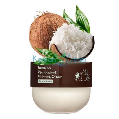 Многофункциональный крем с кокосом, 300мл, FarmStay