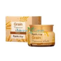 Осветляющий крем с маслом ростков пшеницы Grain Premium White Cream FarmStay, 100 г