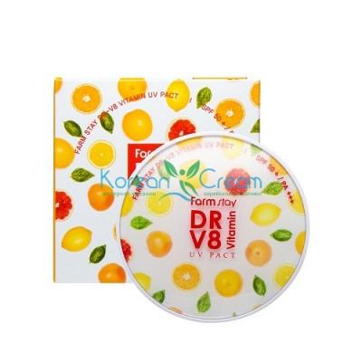 Компактная пудра с витаминами SPF 50/PA+++ со сменным блоком, оттенок 13, Светлый Беж,  FarmStay