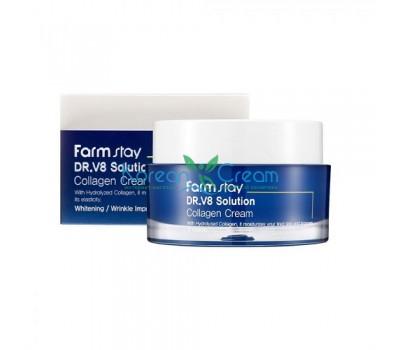 Крем для лица с коллагеном Dr-V8 Solution Collagen Cream FarmStay, 50 мл