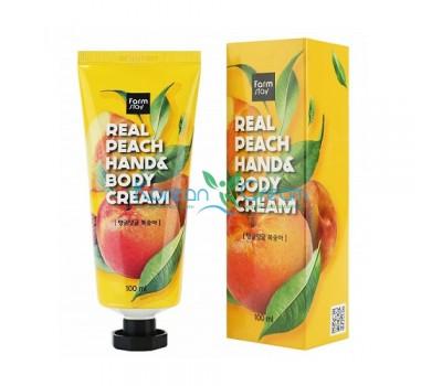 Крем для рук и тела с персиком, 100мл, FarmStay