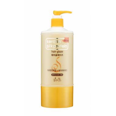 Глазурь для укладки волос с протеинами шелка, 500 мл — Keratin Silkprotein Hair Glaze