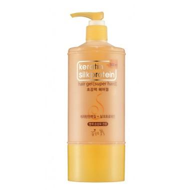 Гель для укладки для волос с протеинами шелка, 500 мл — Keratin Silkprotein Hair Gel