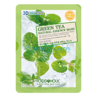 Тканевая маска для лица с Зеленым чаем Green Tea Essence Mask FoodaHolic