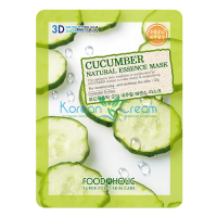 Тканевая маска для лица с экстрактом огурца Cucumber Natural Essence Mask FoodaHolic