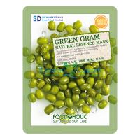 Тканевая маска для лица с экстрактом бобом Мунг Green Gram Essence Mask FoodaHolic