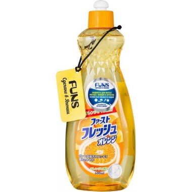 Жидкость для мытья посуды, овощей и фруктов с маслом апельсина, 600 мл — Liquid for washing dishes, vegetables and fruits with orange oil