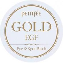Патчи для глаз и для точечного использования с золотом и EGF, 90 шт (60 шт*1,1 г + 30 шт*0,6 г)