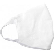 Многоразовая защитная маска из хлопка (2 слоя), белая