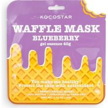 Противовоспалительная вафельная маска для лица с экстрактом черники и полыни