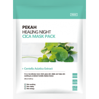 Восстанавливающая тканевая маска с экстрактом центеллы азиатской — Healing Night Cica Mask Pack
