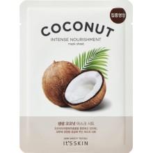 Увлажняющая тканевая маска с кокосом