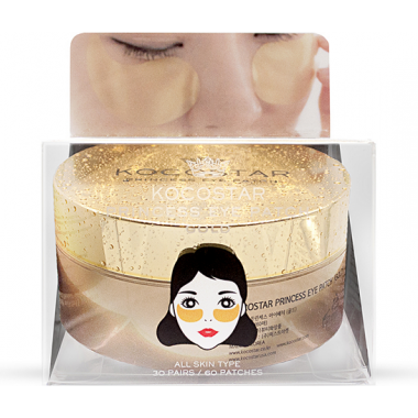 Гидрогелевые патчи для глаз с коллоидным золотом, 60 шт — Princess Eye Patch Gold
