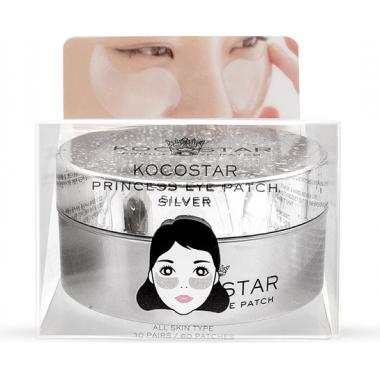 Гидрогелевые патчи для глаз с коллоидным серебром, 60 шт — Princess Eye Patch Silver