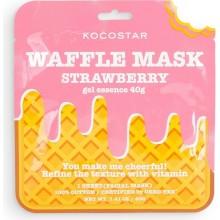 Тонизирующая вафельная маска для лица с экстрактом клубники