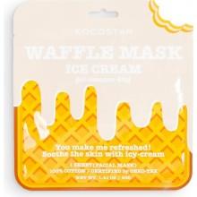 Смягчающая вафельная маска для лица с натуральной ванилью