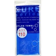 Мочалка для тела средней жёсткости (синяя)