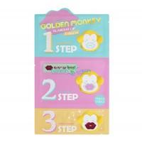 Набор средств 3-х ступенчатый для ухода за губами Golden Monkey Glamour Lip 3-Step Kit Holika Holika