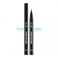 Подводка для глаз тон 01 черный Tail Lasting Sharp Pen Liner Holika Holika