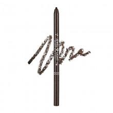 Тонкий карандаш-подводка, оттенок 02 - темно-коричневый