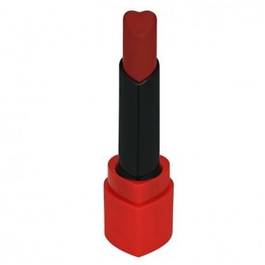 Вельветовая помада, тон RD02 - ярко-красный — Heart Crush Lipstick Comfort Velvet RD02