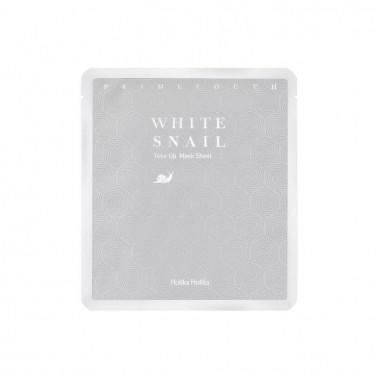 Гидрогелевая маска с муцином белой улитки выравнивающая тон — Prime Youth White Snail Tone Up Mask Sheet