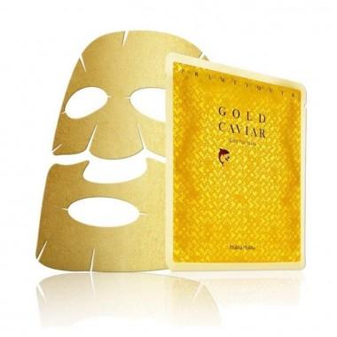 Антивозрастная тканевая маска с золотом — Prime Youth Gold Caviar Gold Foil Mask