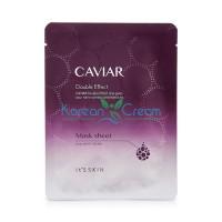 Тканевая маска для лица антивозрастная Caviar Double Effect Mask Sheet It's Skin