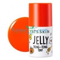 Тинт желе для губ оранжевый тон 05 Jelly Tong-Tong Tint 05 It's Skin