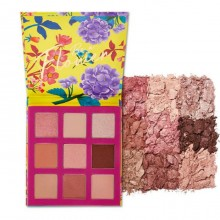 Палетка теней для век, тон 02 - розовая, 9 цветов
