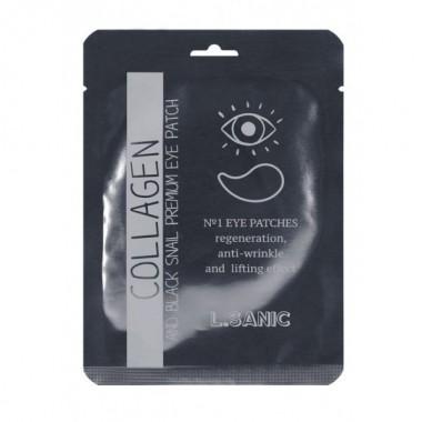 Гидрогелевые патчи для глаз с коллагеном и муцином чёрной улитки, 2 шт — Collagen nd Black Snail Premium Eye Patch