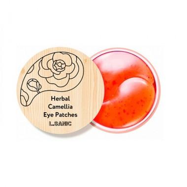 Гидрогелевые патчи для век с экстрактом камелии, 60 шт — Herbal Camellia Hydrogel Eye Patch