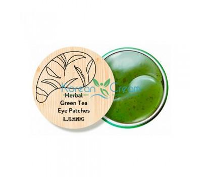 Гидрогелевые патчи с экстрактом зеленого чая Herbal Green Tea Hydrogel Eye Patches L.SANIC, 60 шт