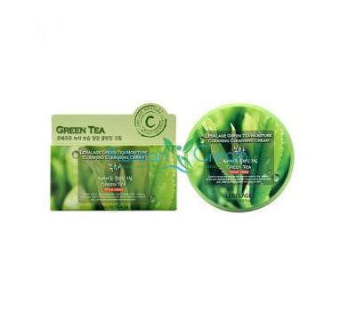 Очищающий крем для снятия макияжа с экстрактом зеленого чая Green Tea Moisture Cleaning Cleansing Cream LEBELAGE, 300 мл