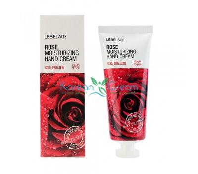 Крем для рук увлажняющий с экстрактом розы Rose Moisturizing Hand Cream Lebelage, 100 мл