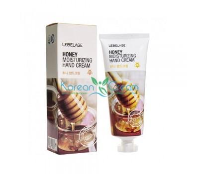 Крем для рук увлажняющий с медом Honey Moisturizing Hand Cream Lebelage, 100 мл