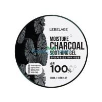 Увлажняющий успокаивающий гель с углем Moisture Charcoal Purity 100% Soothing Gel LEBELAGE, 300 мл