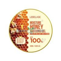 Увлажняющий успокаивающий гель с экстрактом мёда Moisture Honey Purity 100% Soothing Gel LEBELAGE, 300 мл