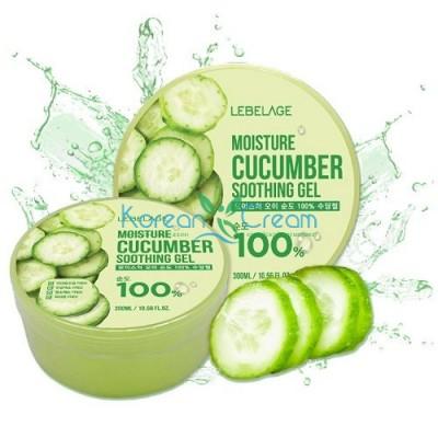 Увлажняющий гель с экстрактом огурца Moisture Cucumber Purity 100% Soothing Gel LEBELAGE, 300 мл