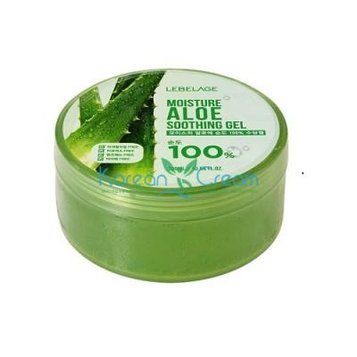 Увлажняющий успокаивающий гель с экстрактом алоэ Moisture Aloe Purity 100% Soothing Gel LEBELAGE, 300 мл