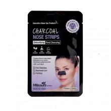 Маски-полоски с древесным углем для очищения пор в области носа, 5 шт