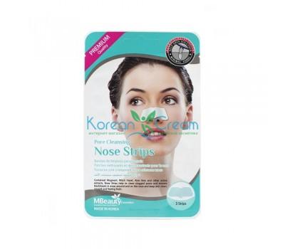 Маски-полоски для очищения пор в области носа Pore Cleansing Nose Strips MBeauty, 3 шт