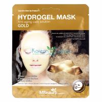 Антивозрастная гидрогелевая маска с золотом Gold Hydrogel Mask MBeauty