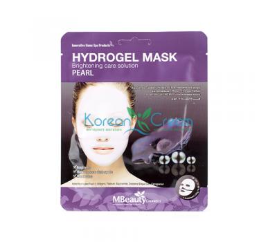 Осветляющая гидрогелевая маска с жемчугом Pearl Hydrogel Mask MBeauty, 25 г