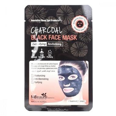 Восстанавливающая тканевая детокс-маска для лица с древесным углем — Charcoal Black Face Mask