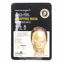 Антивозрастная золотая фольгированная маска для лица с коллагеном