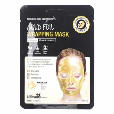 Антивозрастная золотая фольгированная маска для лица с коллагеном — Gold Foil Wrapping Mask