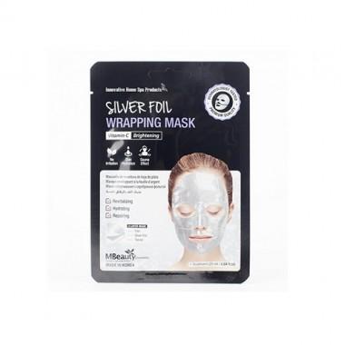 Восстанавливающая серебряная фольгированная маска для лица с витамином С — Silver Foil Wrapping Mask